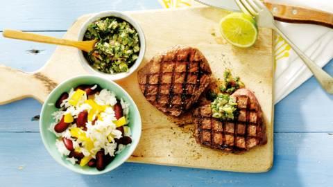 Biefstuk met kruidensaus