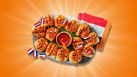 Oranje hotdogs