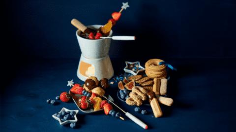 Grand dessert choco fondue