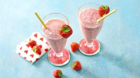 Milkshake met vers fruit