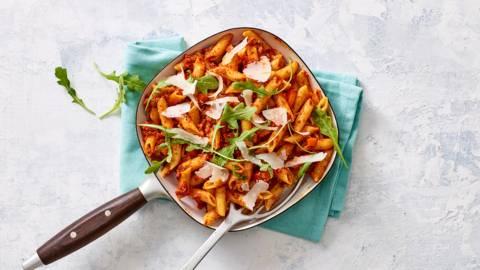 Eenpans pasta bolognese