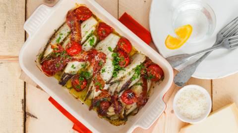 Witlof met tomaatjes uit de oven