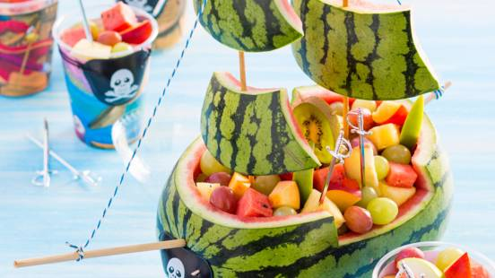 Piratenschip met fruit