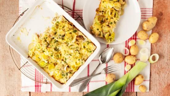 Aardappel groentegratin