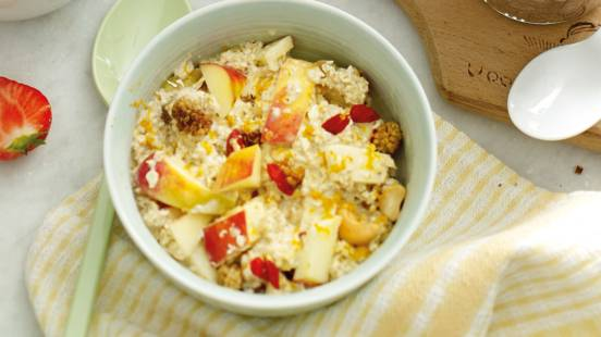 Oats met superfoodmix en appel