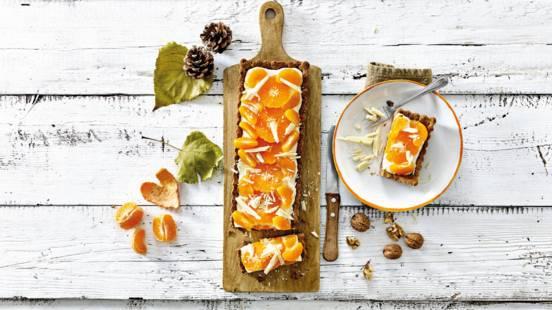 Mandarijnentaartje met yoghurt en mascarpone