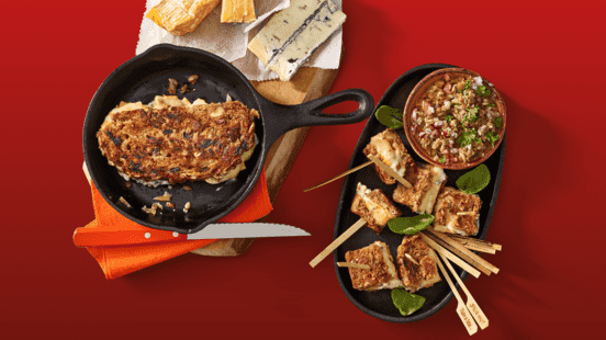 3-kazen mini tosti's uit de pan met huisgemaakte paddenstoelentapenade