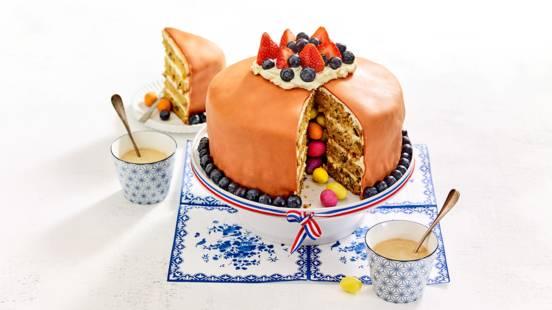 Wortel-sinaasappelcake met verrassingsvulling