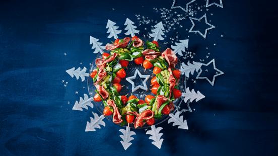 Feestprikkers met Coppa all' Amarone, mozzarella en gegrilde courgette