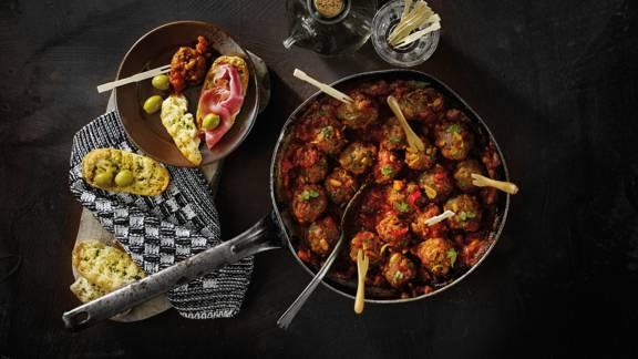 Spaanse gehaktballetjes met saus