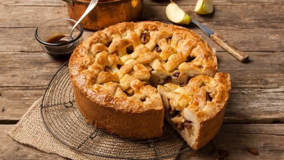 Hollandse appeltaart met stroopappeltjes