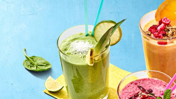 Spinazie-mango-avocado smoothie