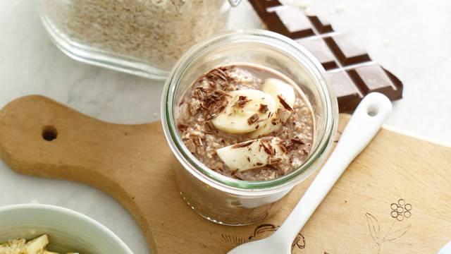 Choco oats met banaan en honing
