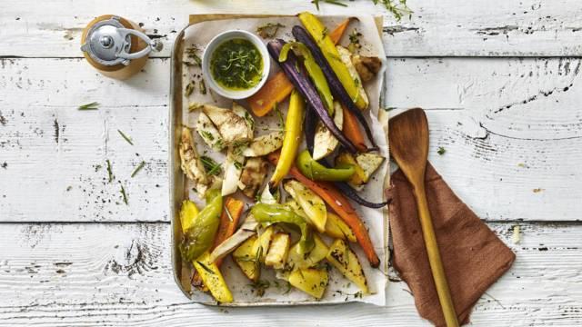 Knapperige ovengroenten met koolraap, knolselderij en wortel