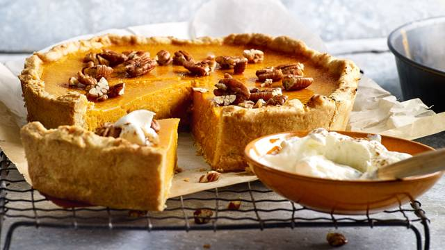 Pumpkin pie, traditionele zoete pompoentaart