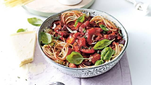 Spaghetti Biet Bourguignon