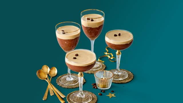 Choco-Espresso Martini's in glas