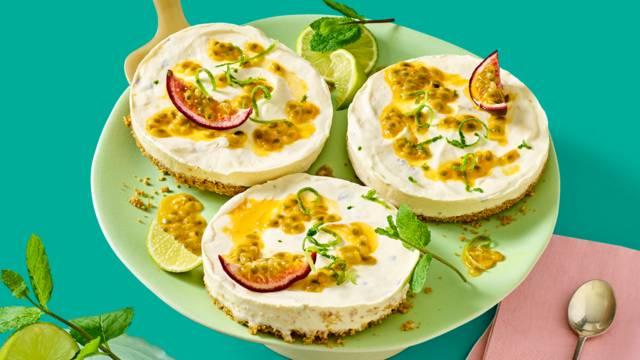 Cheesecakejes met passievrucht en limoen