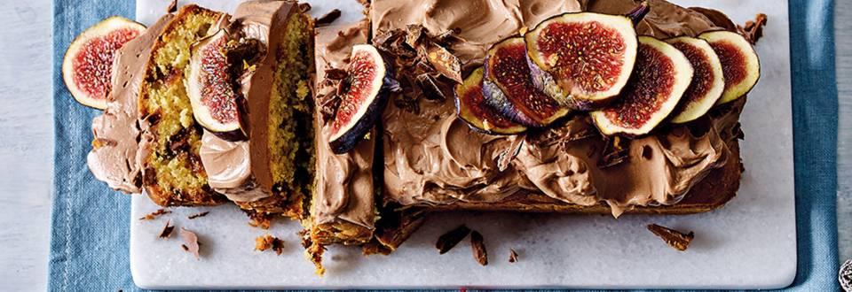 Dadelcake met choco-frosting