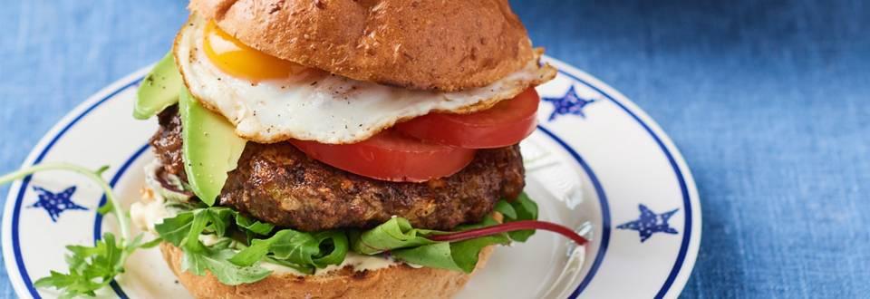 Amerikaanse hamburger