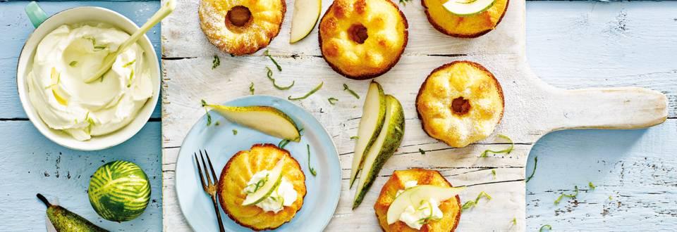 Peer-gembercake met citrusmascarpone