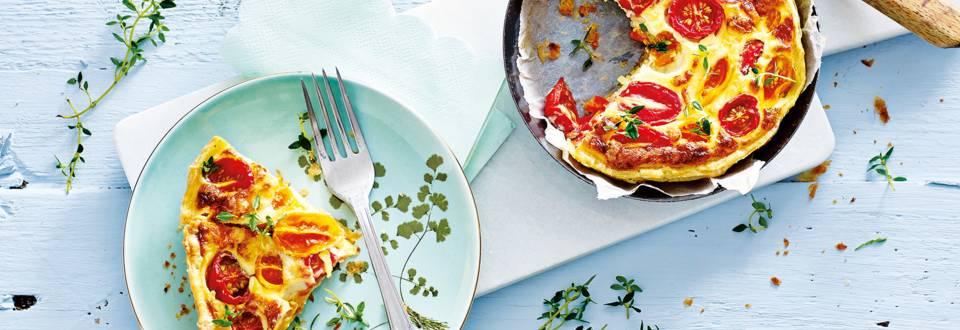 Tomatenquiches van snacktomaten met kaas