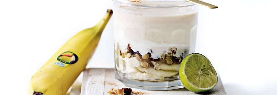 Bananensmoothie met pindakaas