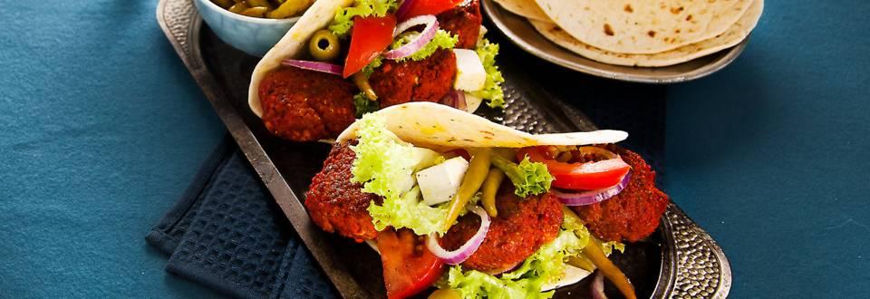Köfte en Turkse salade
