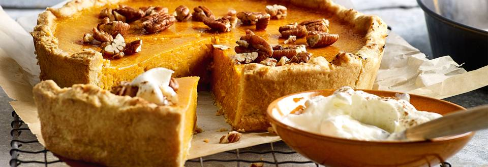 Pumpkin pie, traditionele zoete pompoentaart
