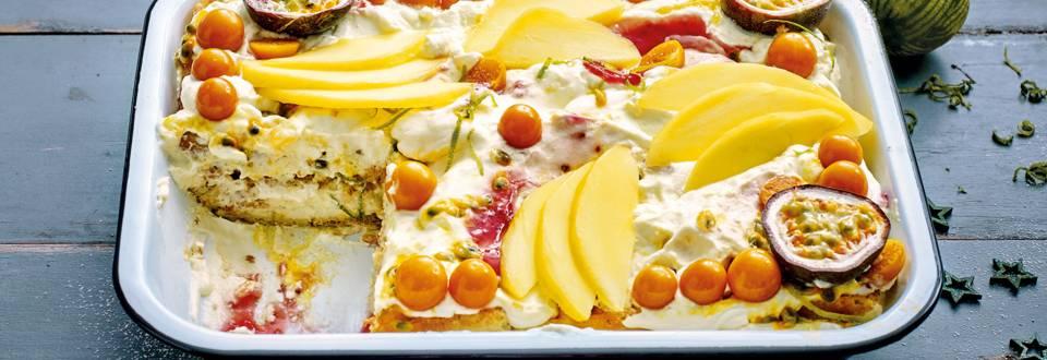 Tiramisù met exotisch fruit