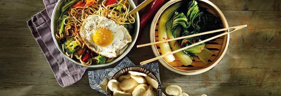 Chowmein noodels uit de wok