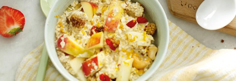Oats met superfoodmix en appel