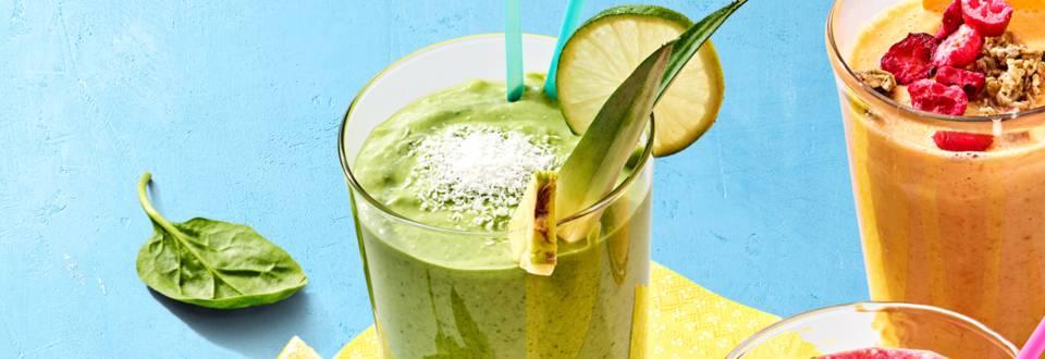 Spinazie-mango-avocado smoothie