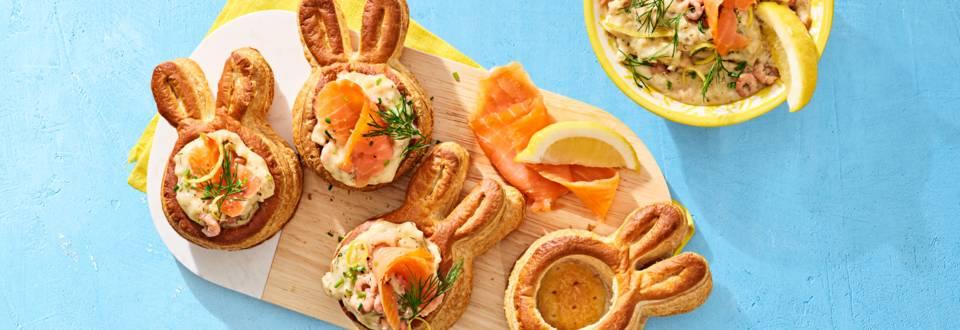 Paas pasteitjes met huisgemaakte garnalenragout