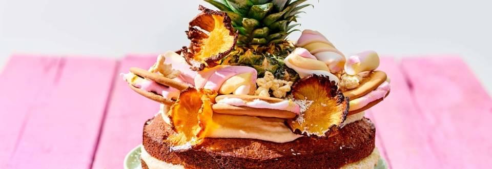 Tropische Pina Colada-taart