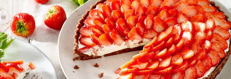 Aardbeien-mascarponetaart