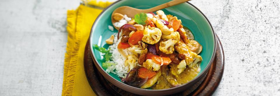 Oosterse bloemkoolcurry